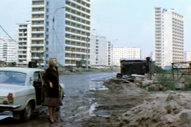 Это район, в конце 1970-х только начинающий заселяться, - Северный бульвар в Отрадном.