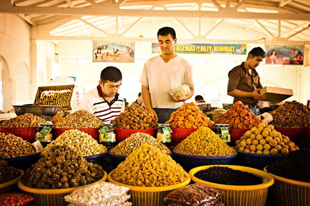 Рынок в Бухаре.